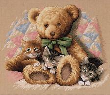 Dimensions Cross Stitch Kit - Teddy & Kittens