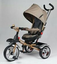 3 impennata Triciclo Ride On Toy Baby Bambino Carrozzina Stoller Jogger AUTO GOLD 2018