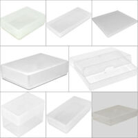 CRAFT BOX A4 A5 A7 PEEL OFF DL ATC DEEP BUSINESS CLEAR PLASTIC STORAGE BOXES NEW