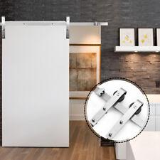 6FT Stainless Steel Modern Sliding Barn Wood Door Hardware Track Set Single door