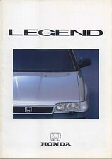 Honda Legend 2.5 Saloon 1986-87 Original UK Sales Brochure Pub. No. 4C7008