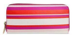 NWT - MERONA Women Zip Around Wallet - Pink Stripe