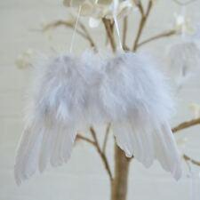 10pcs White Vintage Feather Hanging Angel Wing Christmas Tree Wedding Decoration
