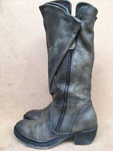 A.S.98 Italian Leather Boho Biker Boots Sz EUR 39 | US 8-8.5  | UK 6