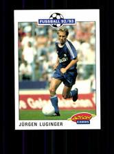Jürgen Luginger FC Schalke 04  Panini Action Card 1992-93 + A 183109