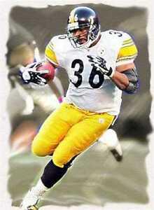 Jerome Bettis Pittsburgh Steelers Rare Art Litho Print