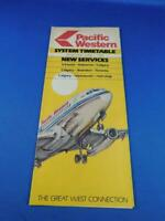PACIFIC WESTERN AIRLINES SYSTEM TIMETABLE JUNE 1981 NEW SERVICES CALGARY TORONTO