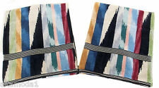 "MISSONI HOME LIMITED EDITION HOMER T50 TWO BATH TOWELS VELOUR 27.5x45""  ECO DYE"