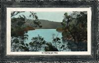 1911 VINTAGE KURING-GAI BAY POSTCARD -sent to Birchs Bay, TAS - red 1d NSW stamp