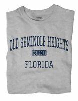 Old Seminole Heights Florida FL T-Shirt Tampa EST