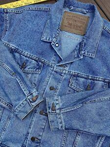 Vintage Levis Strauss Denim Trucker Jean Jacket Blue Sz L *USA MADE*