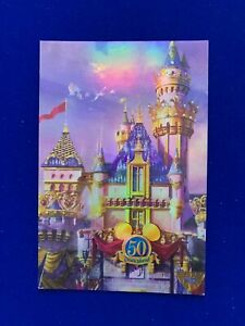 Disneyland - 50th Anniversary Foil Effect Postcard