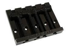 Omega 'Badass Style' Bass Guitar Bridge • Black • Grooved Saddles