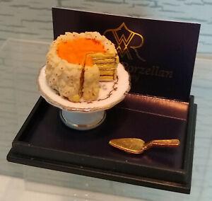 NEW Reutter Porcelain Dollhouse Miniature Cake Dessert Pedestal Stand Germany