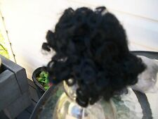 one black doll wig from global dolls size 16cm
