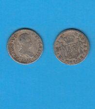 Pérou Lima Ferdinand VII Médio réal plata  Silver coin