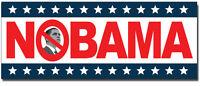 NOBAMA Anti Obama Political Car Bumper Decal Presidential Window Sticker 2 PACK