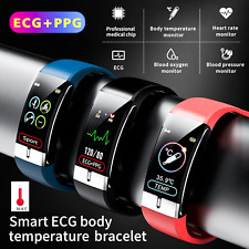 Bluetooth Smartwatch Armband EKG PPG Pulsuhr Blutdruck Sport Fitness Tracker