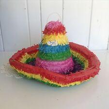 """Colorful Sombrero Pinata Mexican Cinco de Mayo Party Theme 3D 15"""" x 9"""""""