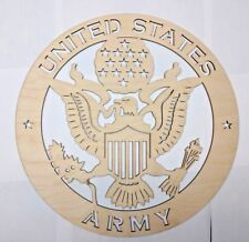 US ARMY wall art Laser cut sign gift idea ARMY Unfinished Wood Crafts Supplies