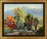 Paul Grimm Original Desert Landscape Painting Oil on Board Signed Western Art