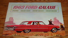 Original 1963 Ford Galaxie Sales Brochure 63 500 XL Wagon