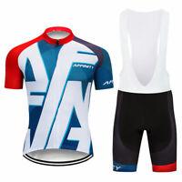 XSG209 Mens Road Mtb Cycling Short Sleeve Jersey Lycra bib Shorts Tights Sui