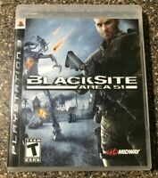 Black Site Area 51 - Sony PlayStation 3 PS3 - Complete w/ Manual - Tested