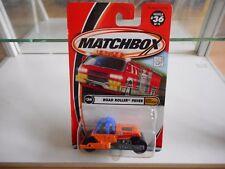 Matchbox Road Roller Paver in Orange on Blister