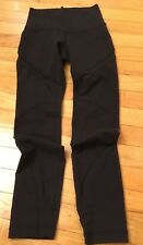 LULULEMON Black Capri Legging with Mesh Inserts Size 2