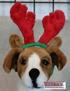 Dog Toy Christmas Antlers Reindeer Large Hat Outward Hound Pet Plush Holiday