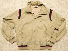 VTG! Rare Style LACOSTE Shoulder Stripe Bomber Jacket-Men's XL-80's-