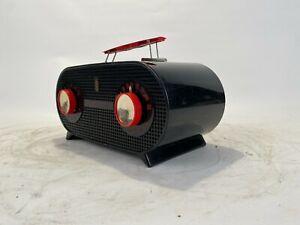 Fantastic Colored Red and Black Zenith Art deco radio Model 5M02