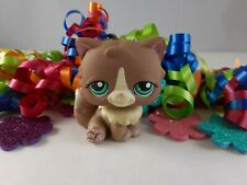 Littlest Pet Shop Brown and Cream Accented Persian Cat #371