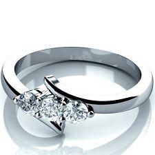 White Gold 0.25Ct Round Diamond Trilogy Engagement Ring