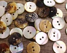 """Real Shell Button Lot 50 15mm 24L 5/8"""" Agoya Natural Crafts Sewing Replacement"""