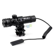Tactical Red Laser Sight & Remote Switch with Barrel Mount Adapter for Rifle