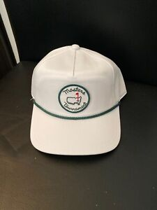 2021 Masters Tournament White With Green Rope Hat Retro Snap Back