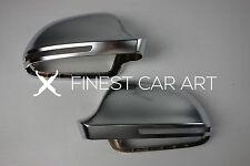 Komplette Gehäuse ALU Look Spiegel Spiegelkappen Außenspiegel Audi A4 B5 B8 8K