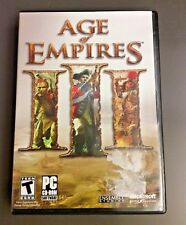 Age of Empires III 3 PC Strategy Game By Microsoft w/ Manuel and Key