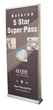 DOUBLE SIDED ROLL UP BANNER STAND WITH FREE CUSTOM PRINTING BANNER INCLUDED