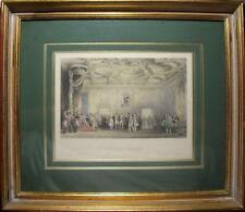 FRENCH 1845 ORIGINAL HAND COLORED ENGRAVING, FRAMED