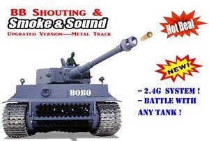 Radio Remote Control Rc German Tiger 1 Tank 2.4G -- Pro and Upgraded  UK