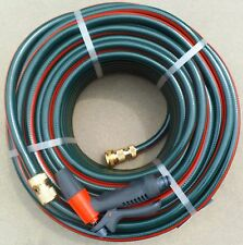 GARDEN HOSE PIPE LAWN WATERING 12mm x 50m AUSTRALIAN BRASS FITTED CONNECTORS TAP