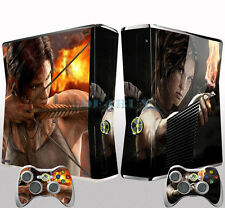 Cool Archery for X Box 360 Slim Console 2 Free Controller Vinyl Skin Sticker