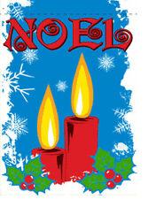 "28""x40"" Garden Flag (Noel) Banner w/Sleeve Christmas Holiday Flag"