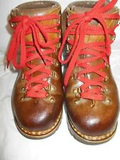 Excellent PMS By Stellina Men's Caramel Leather Italian Hiking Boots Sz 7.5 Rare