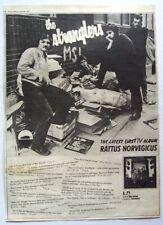 THE STRANGLERS 1977 POSTER ADVERT RATTUS NORVEGICUS IV jj burnel punk