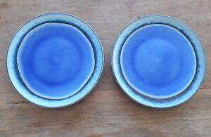 Dakara Ceramic Side Plate Light Blue Set of 2 by Nkuku