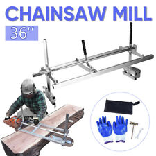 "Chainsaw Mill suits up to a 36"" Bar Furniture Making for Ripping Slabbing Planks"